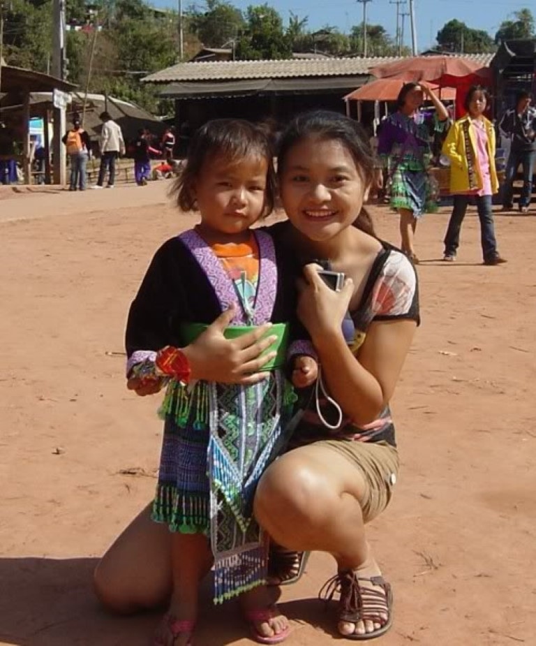 Thai Girl and Daughter